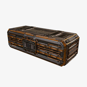 3D model cargo container