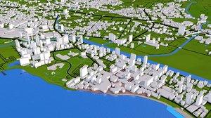 3D hawaii city buildings