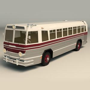3D vintage bus