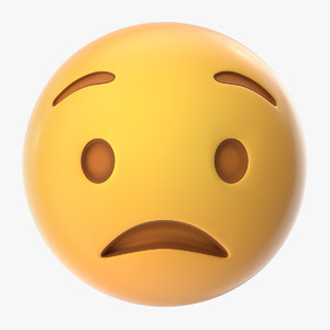 worried emoji 3D model