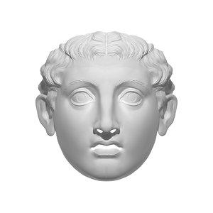 3D blank mask hedi xandt