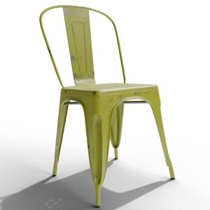 tolix stackable chair classic 3D model