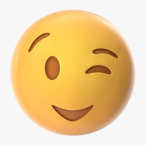 wink emoji model