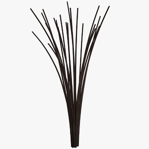 obj decorative sticks vase