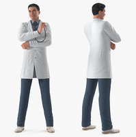 Male Doctor Rigged for Maya