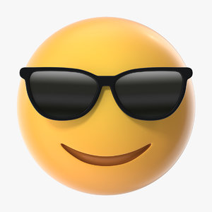 3D sunglasses emoji model