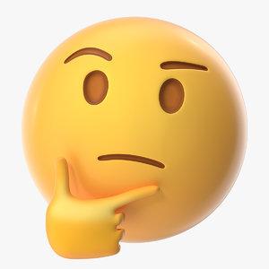 3D thinking emoji