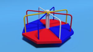 playground roundabout 3D model