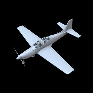 short tucano t1 aircraft 3D model