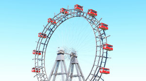 prater ferris wheel vienna 3D model