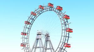 prater ferris wheel vienna 3D model