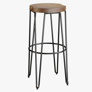 3D realistic bar stool