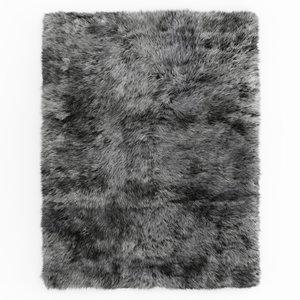 carpet rug shaggy sheepskin 3D model