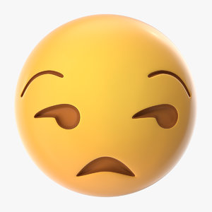 3D model unamused emoji