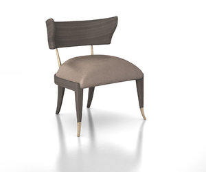 klismos caracole upholstery chair model