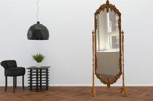 3D model length standing mirror