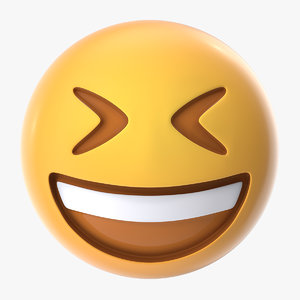 smiling closed eyes emoji 3D model