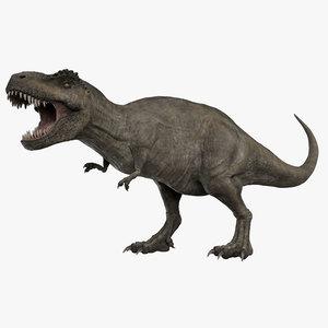 3D rigged tyrannosaurus rex t-rex animation model