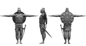 3D soldier historical model