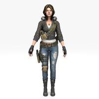 Warrior Scarlet v2 Girl (RIGGED)