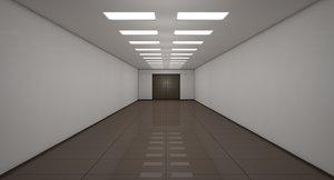 apartment corridor 3D model