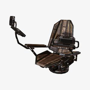 cockpit chair 3D