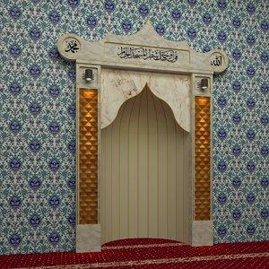 3D model mosque altar -