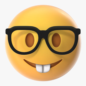 nerd face emoji model
