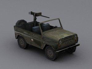 3D model soviet uaz 469