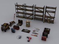 Low poly Tools Asset Pack