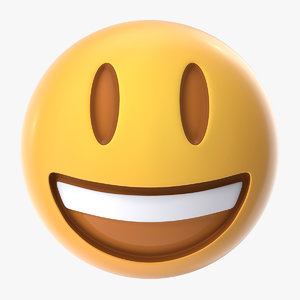 3D smiling emoji