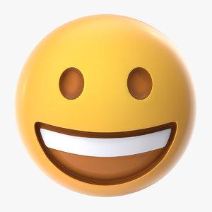 laughing emoji 3D model
