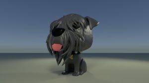 3D custom pop giant schnauzer model