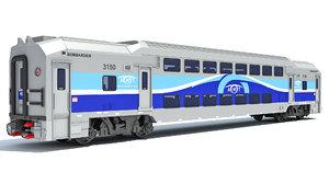 exo passenger car train 3D model