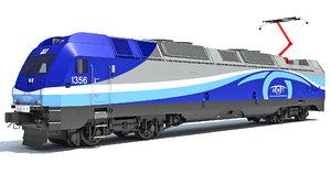 alp-45dp locomotive train exo 3D model