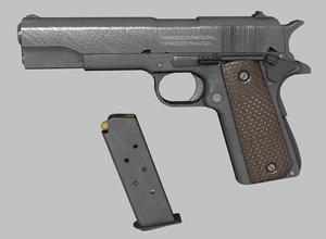 unwrapped colt m1911 pistol model