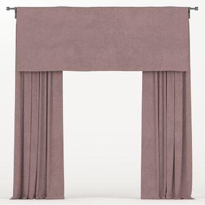 3D curtain burgundy