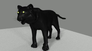 pantera negra black panther 3D model