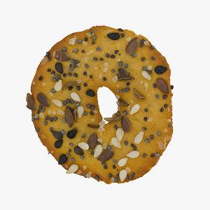 3D baked squeezed pretzel 01