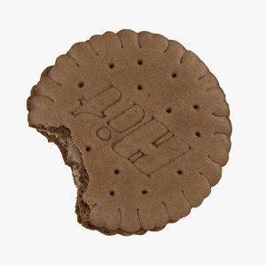 biscuit hazelnut cream 01 3D model