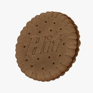3D biscuit hazelnut cream 01