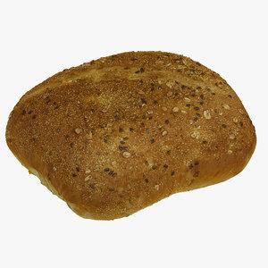 3D bread 09 raw scan