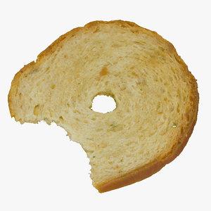 3D model bread chips roll 01