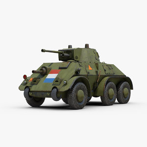 ww2 daf m39 armored 3D model