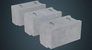 concrete barrier 5a 3D model