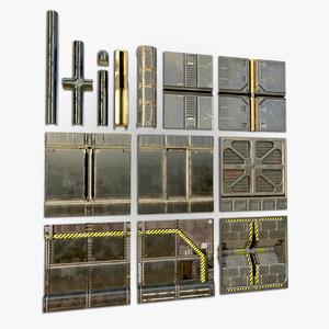 pbr metallic 3D model