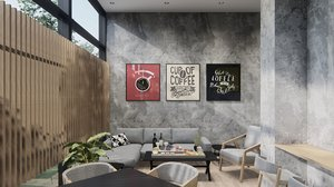 3D cafe lumion 10 project model