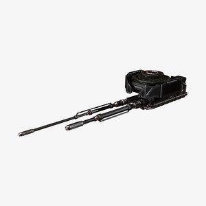 3D weapon cicada model
