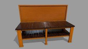 3D model workbench bench