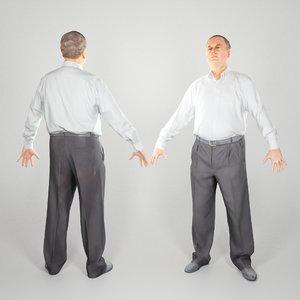 photogrammetry ready adult man 3D model